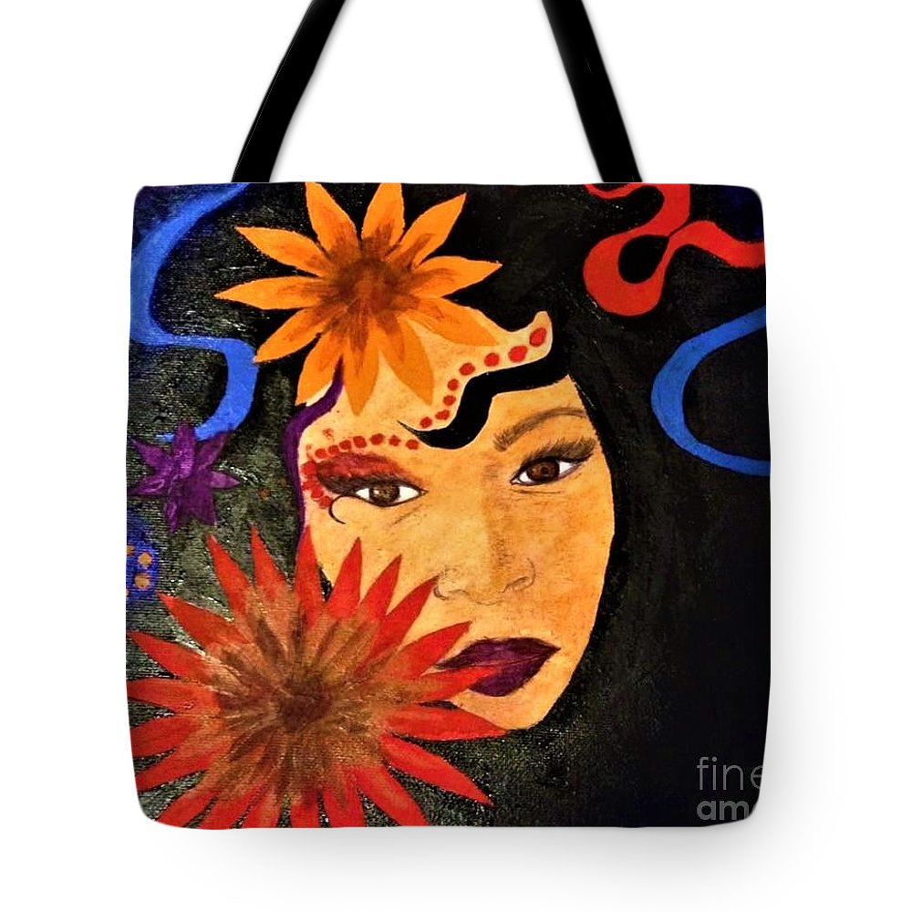 Tote Bag featuring the painting New Year 2018 by Cynthia Williams
