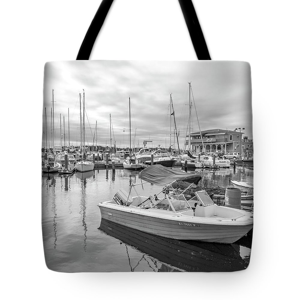 Newport Tote Bag featuring the photograph Newport Rhode Island Harbor by Betsy Knapp