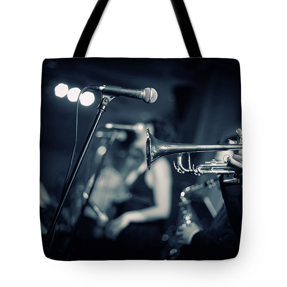Singer Tote Bag featuring the photograph Night Club by Tunart