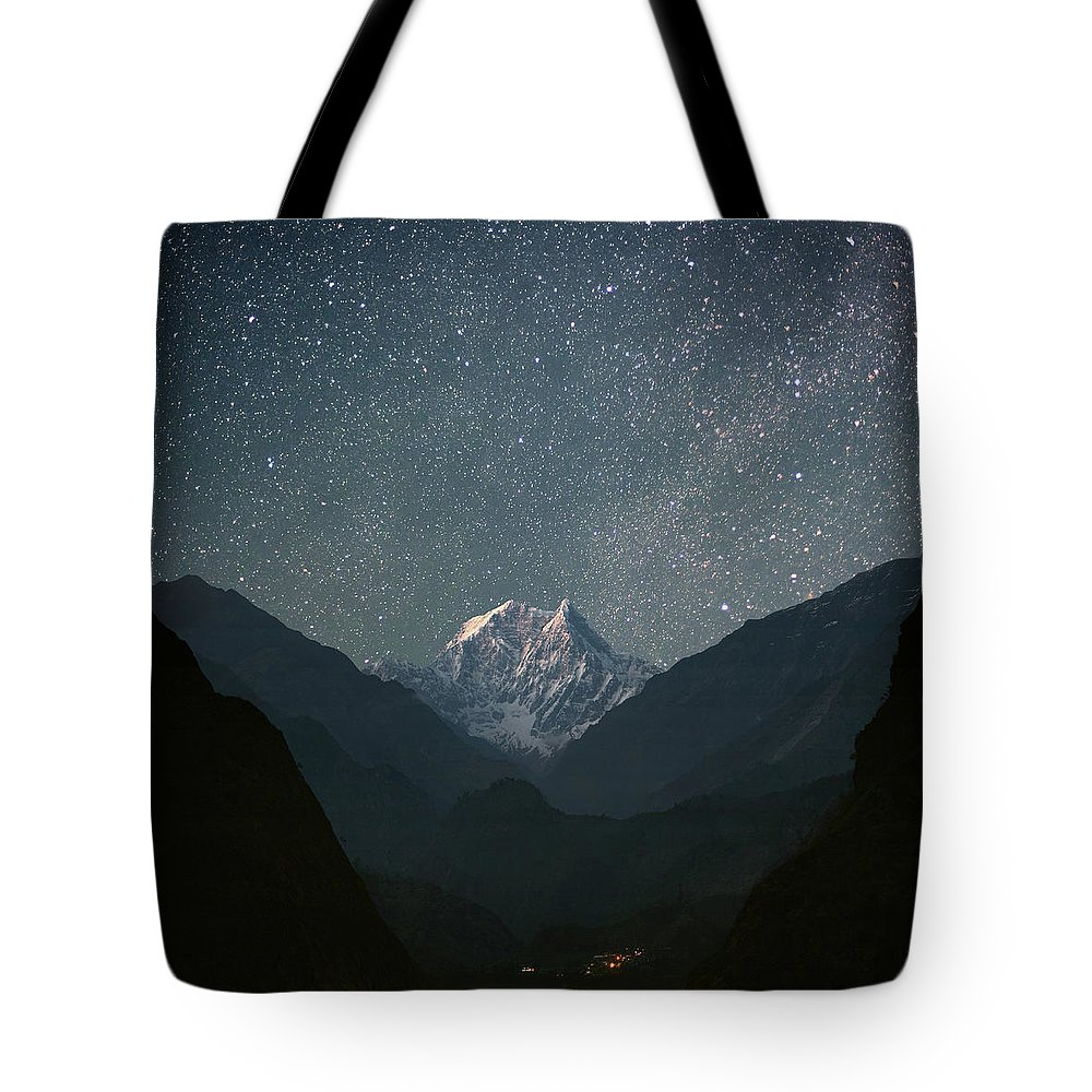 Himalayas Tote Bag featuring the photograph Nilgiri South 6839 M by Anton Jankovoy