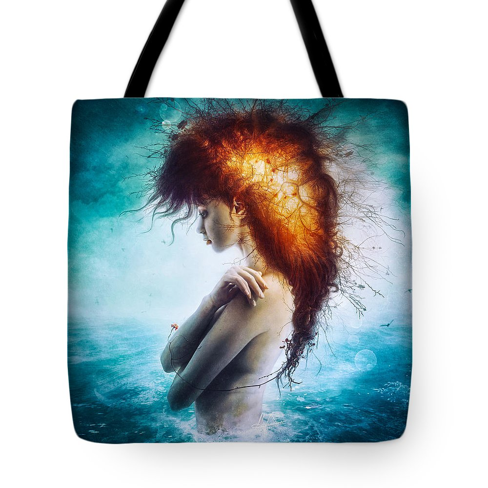 Nirvana Tote Bag featuring the digital art Nirvana by Mario Sanchez Nevado