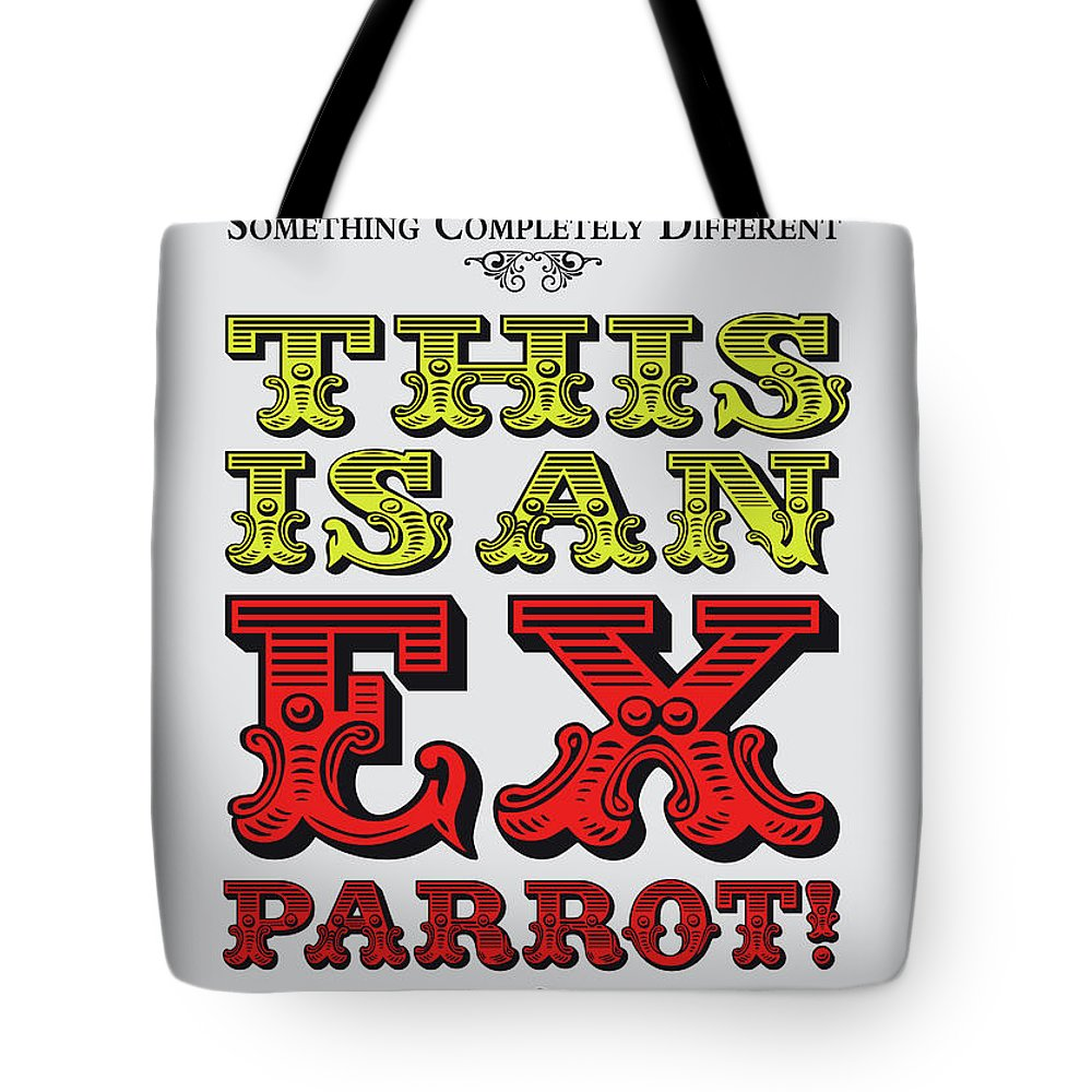 Parrot Tote Bag featuring the digital art No01 My Silly Quote Poster by Chungkong Art