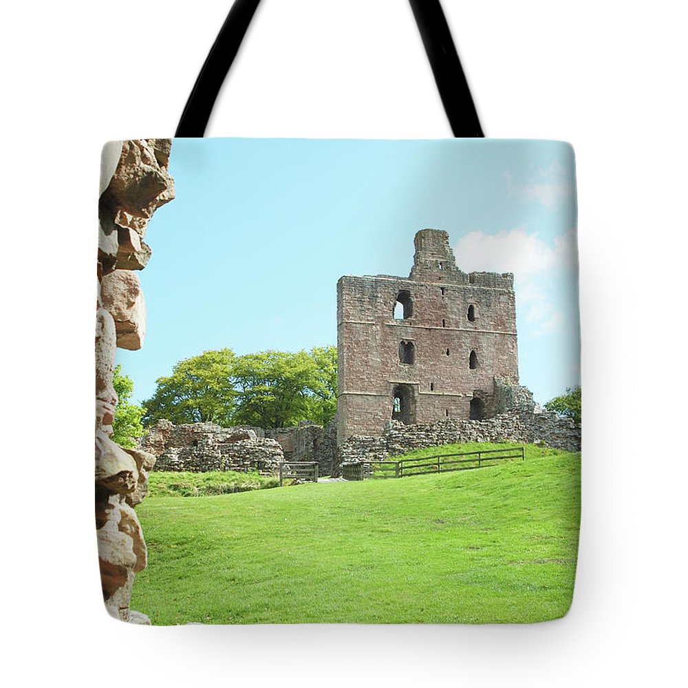 Norham Tote Bag featuring the photograph Norham Castle Tower by Victor Lord Denovan