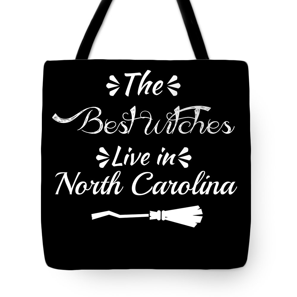 Boo Tote Bag featuring the digital art North Carolinathe Best Witches Are Born In by Kaylin Watchorn