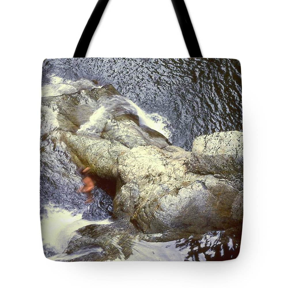 Abstract Tote Bag featuring the photograph Not Your Average Swimming Hole 3 by Lyle Crump