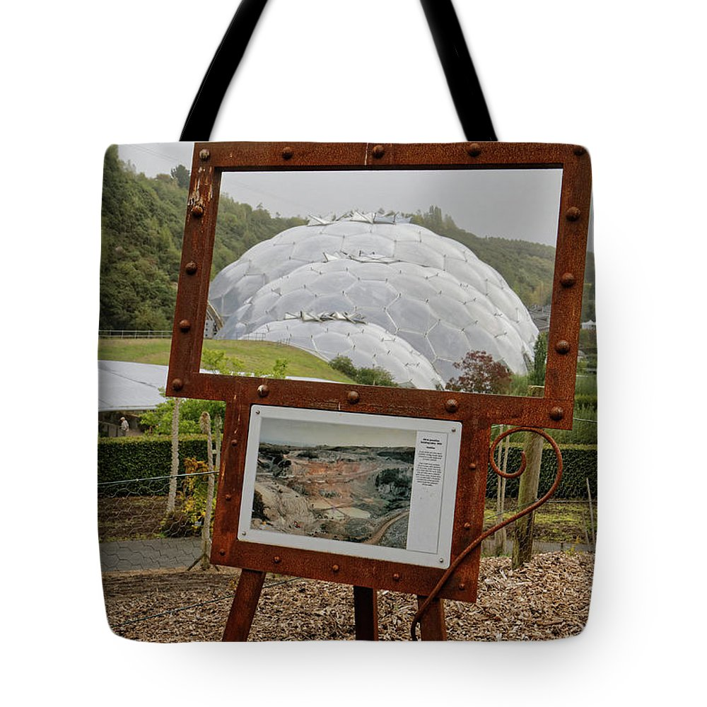 Cornwall Tote Bag featuring the photograph Now And Then by Shirley Mitchell