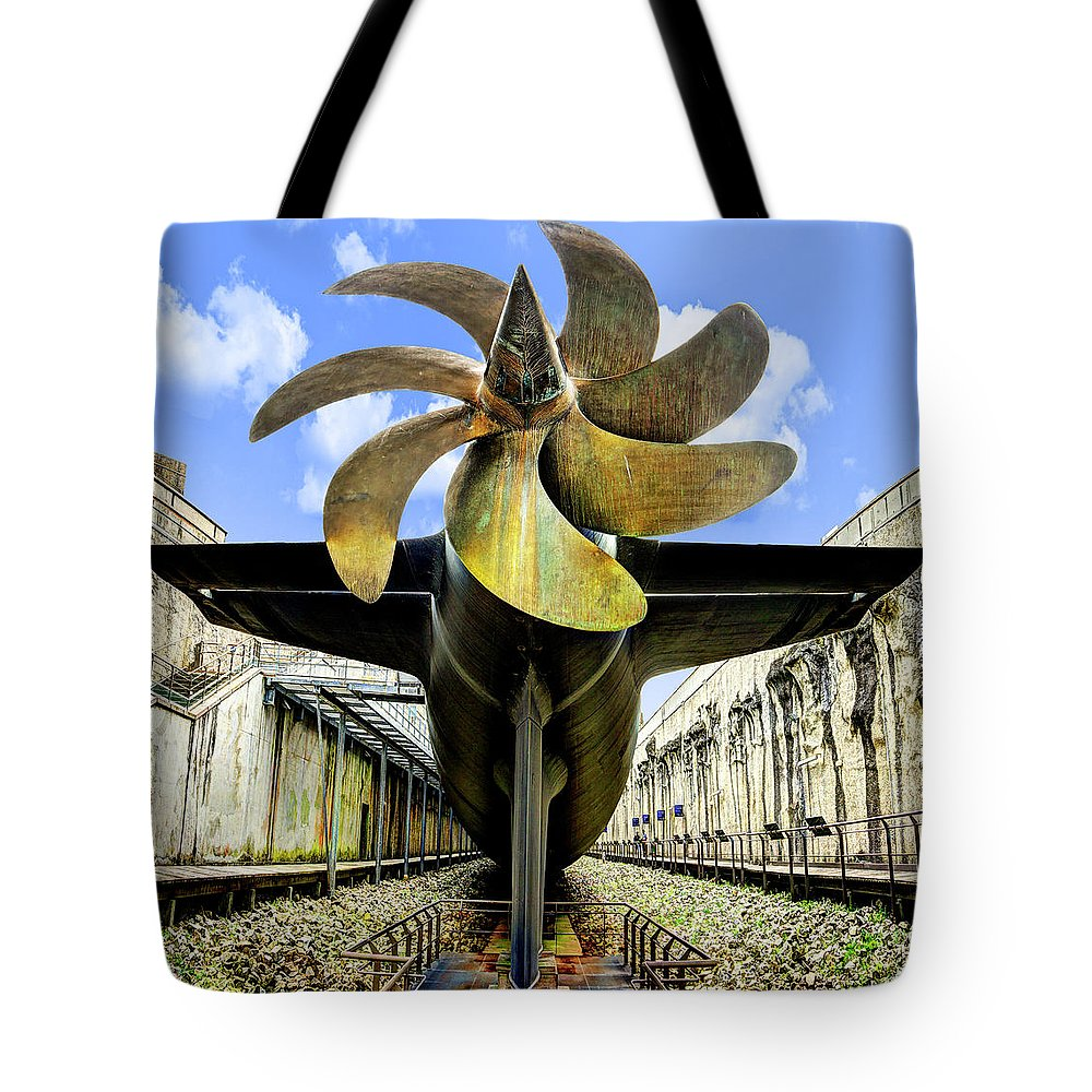 Nuclear Submarine Propeller Tote Bag