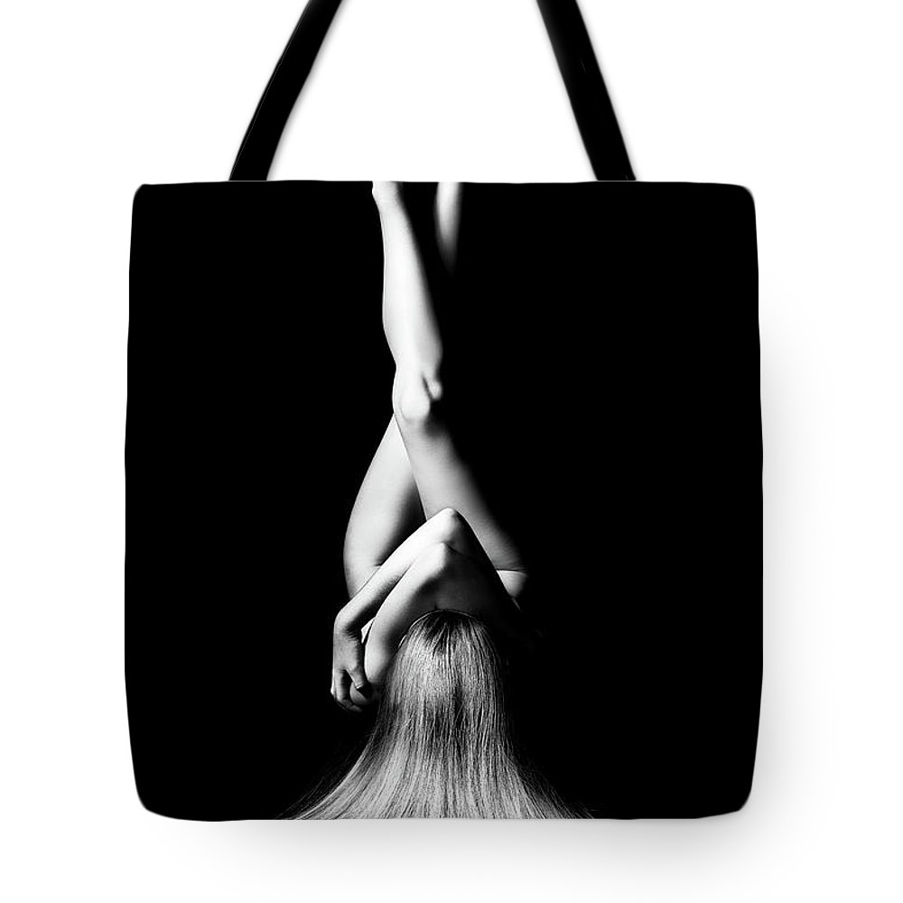Woman Tote Bag featuring the photograph Nude Woman Bodyscape 1 by Johan Swanepoel