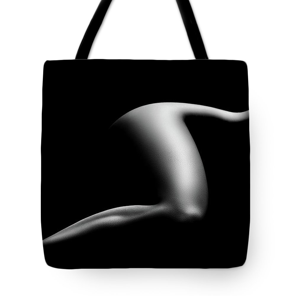Woman Tote Bag featuring the photograph Nude woman bodyscape 9 by Johan Swanepoel