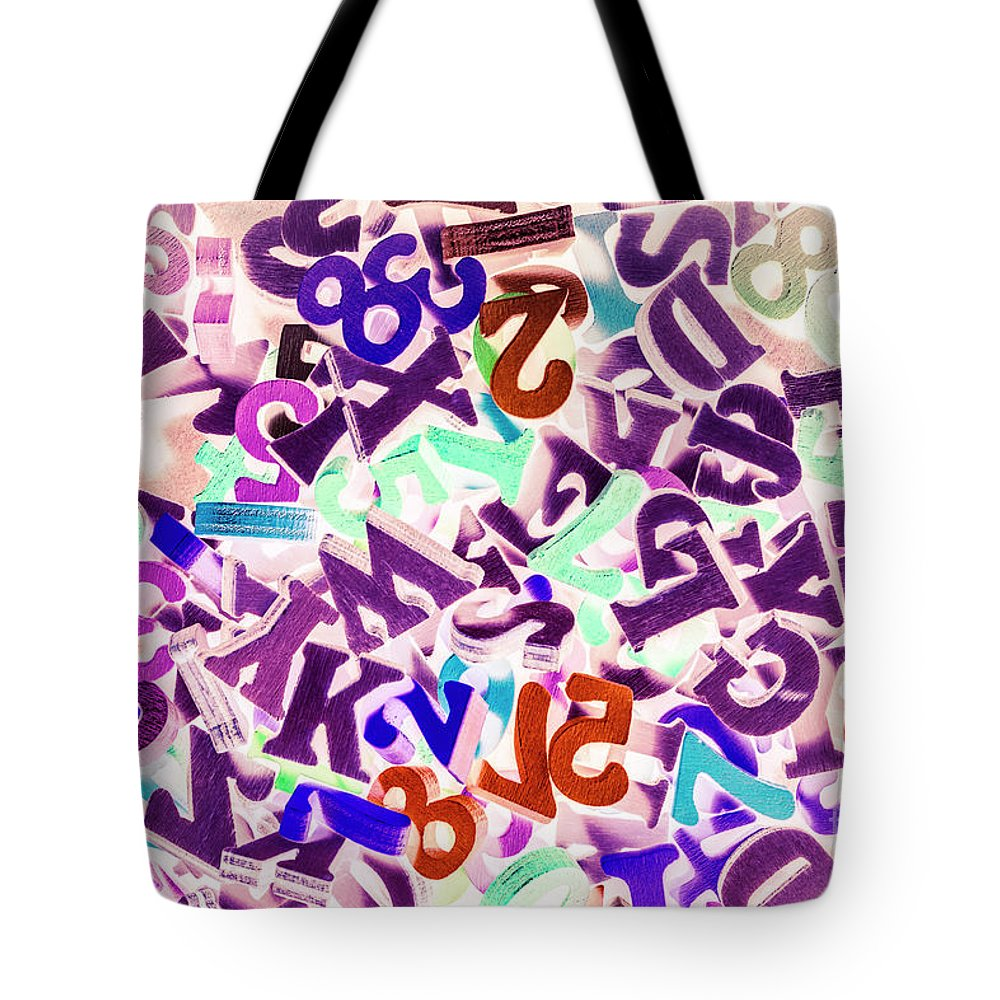 Communication Tote Bag featuring the photograph Numerbetical by Jorgo Photography - Wall Art Gallery