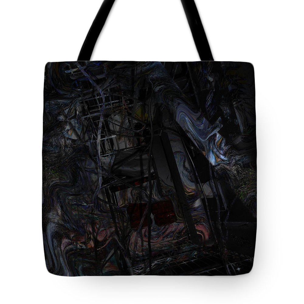 Deep Tote Bag featuring the digital art Oa-6219 by Standa1one