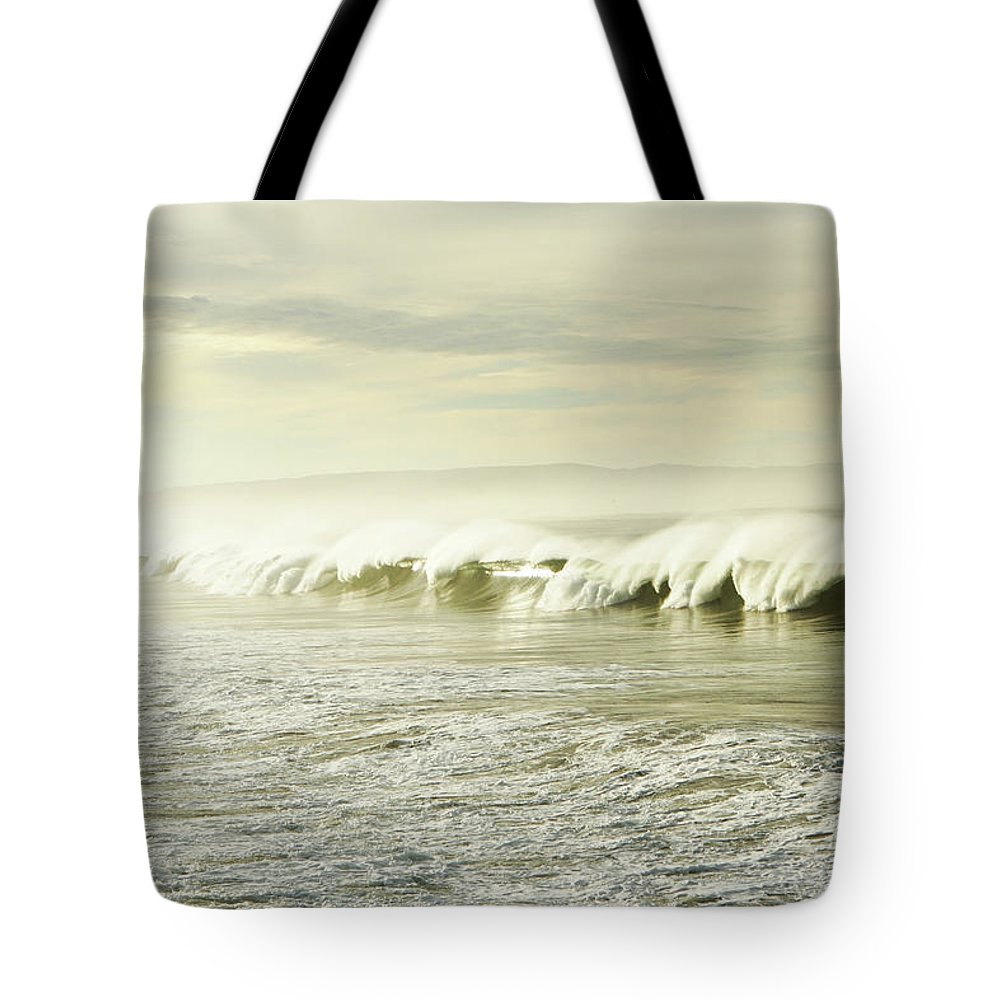 Pismo Beach Tote Bag featuring the photograph Ocean At Sunrise by Kevinruss