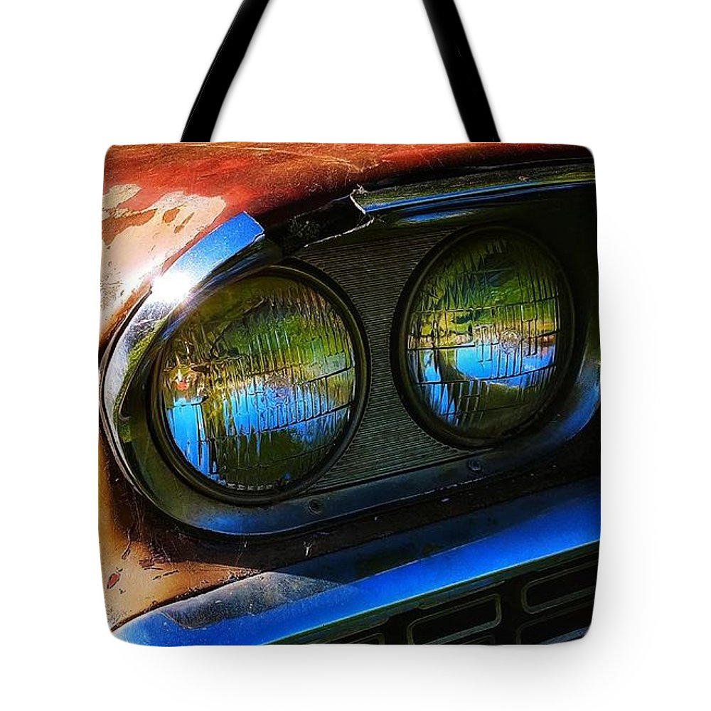 Classic Cars Tote Bag featuring the photograph Oh, My, My Mercury by Constance Lang - Kbex Artwork