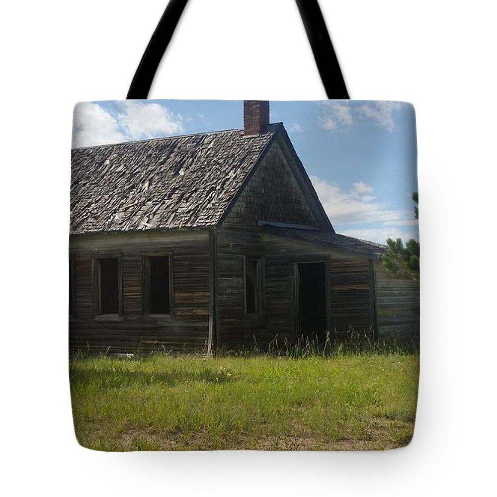 Old School House Tote Bag featuring the photograph Old And New by Kaila Buller