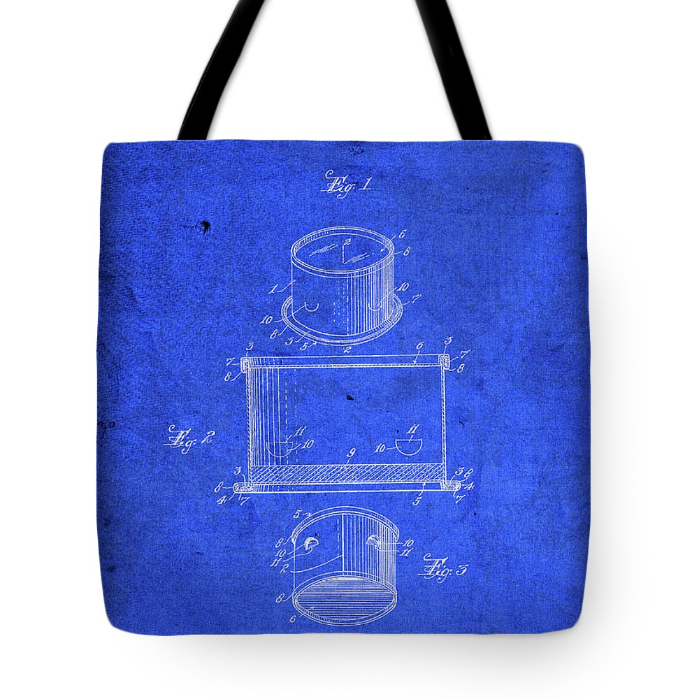 Old Tote Bag featuring the mixed media Old Ant Trap Vintage Patent Blueprint by Design Turnpike