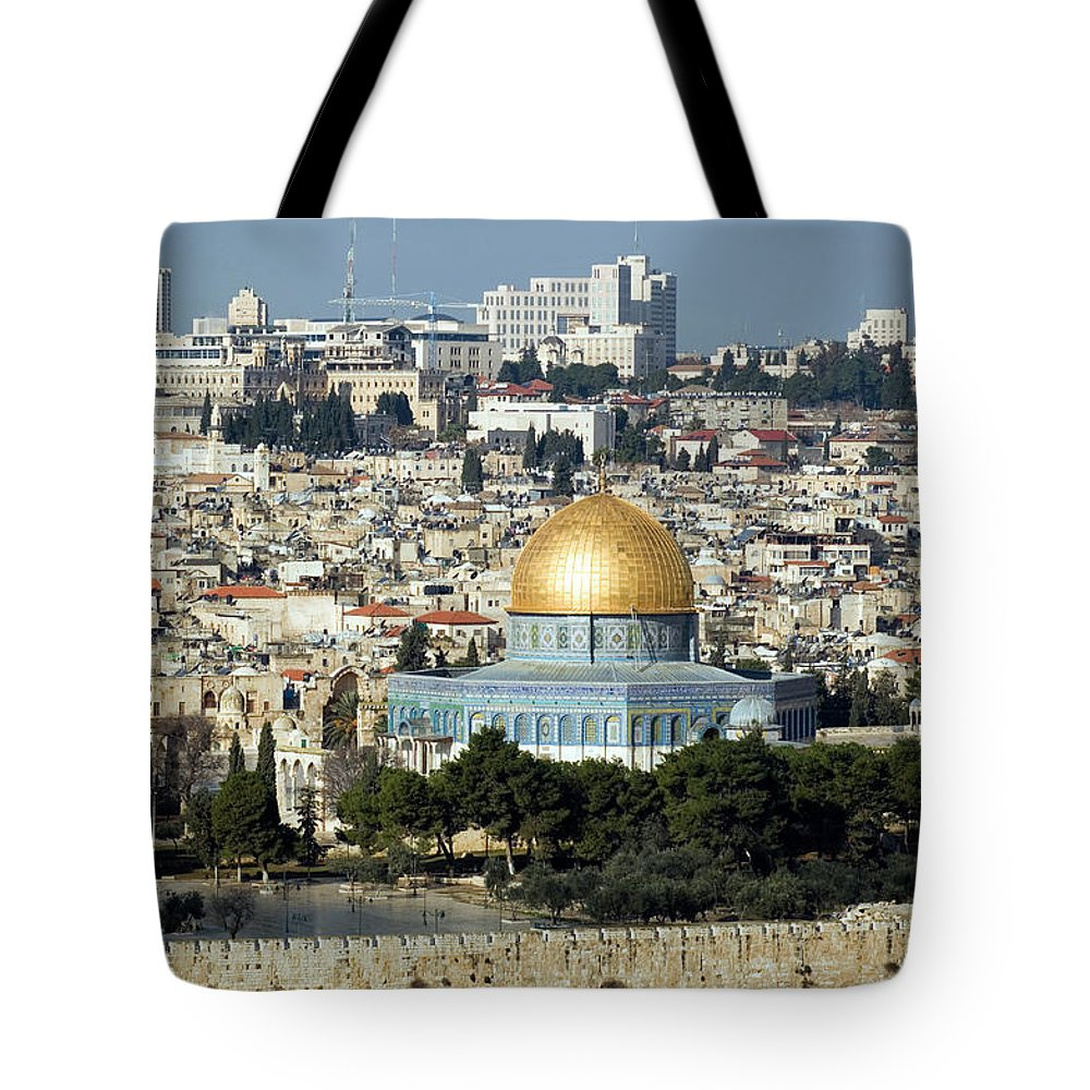 Scenics Tote Bag featuring the photograph Old City Of Jerusalem by Claudiad