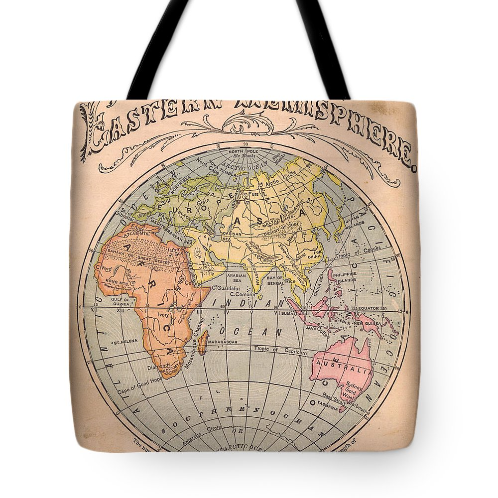 Arabia Tote Bag featuring the photograph Old, Color Map Of The Eastern by Ideabug