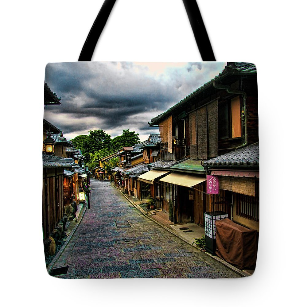 Tranquility Tote Bag featuring the photograph Old Kyoto by Copyright Artem Vorobiev