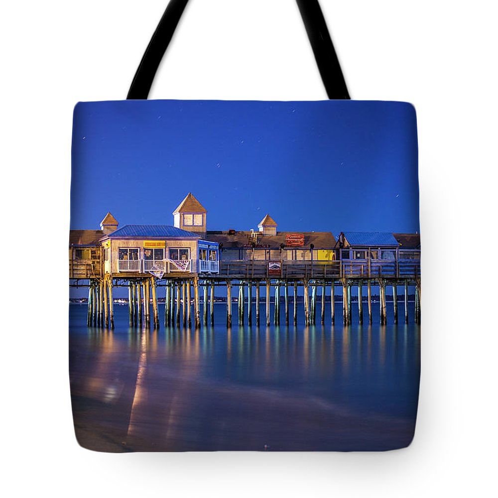 Pier Tote Bag featuring the photograph Old Orchard Beach Pier by Trevor Slauenwhite