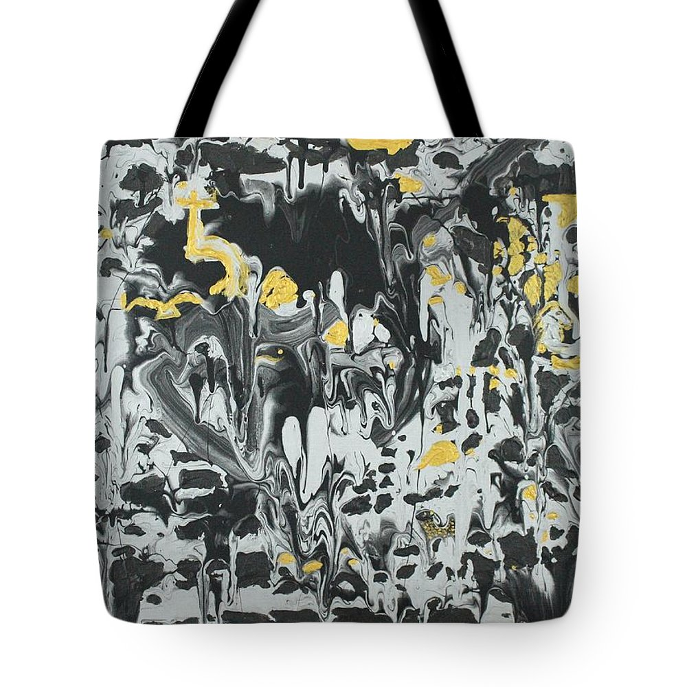 The Alchemist Tote Bag featuring the painting On My Way to the Treasure by Sonye Locksmith