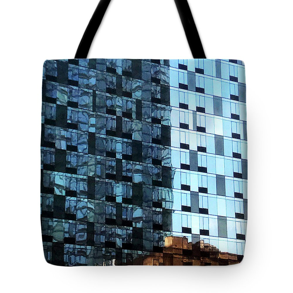 Cityscape Tote Bag featuring the photograph On The Sunny Side Of The Street by Rick Locke