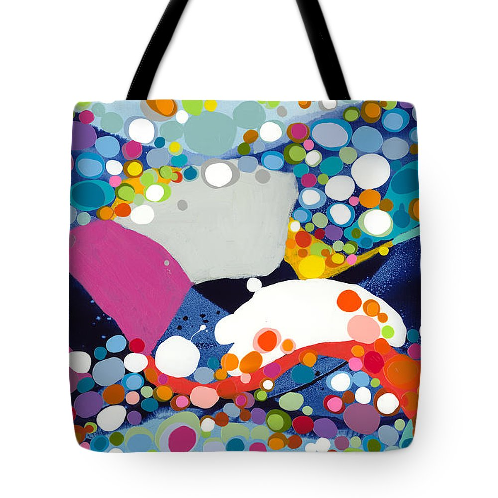 Abstract Tote Bag featuring the painting On The Up And Up by Claire Desjardins