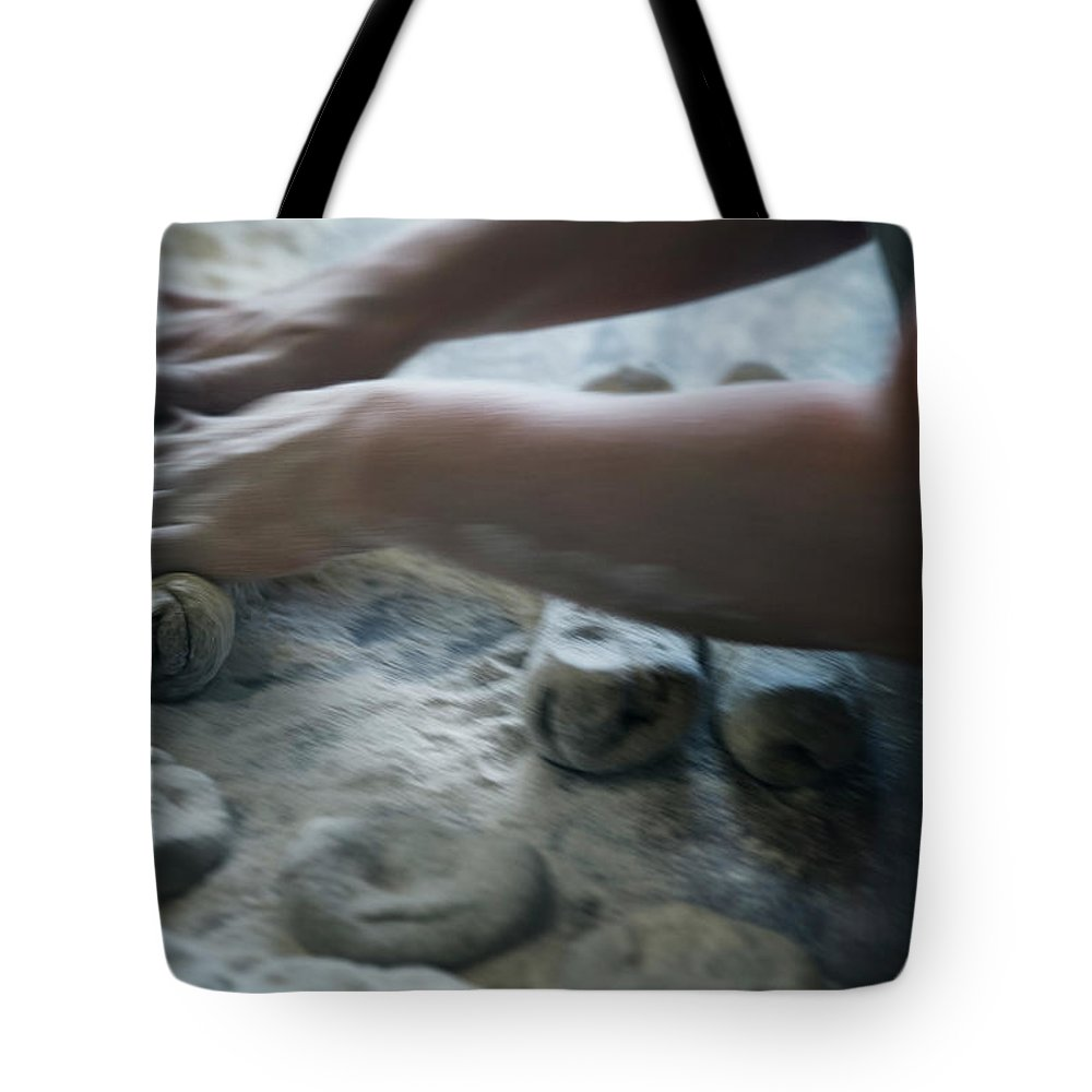Working Tote Bag featuring the photograph One Person Baking Bread, Sweden by Koller, Lena