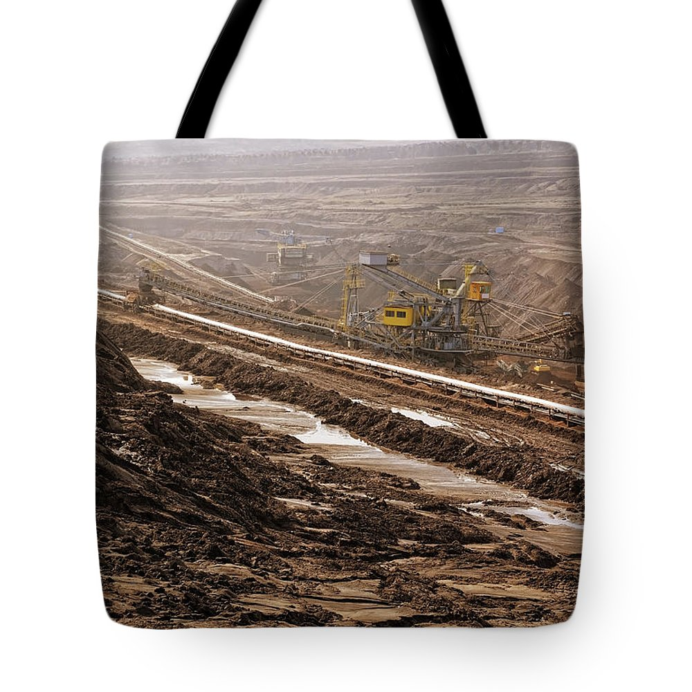 Air Pollution Tote Bag featuring the photograph Open Strip Coal Mine by Hsvrs