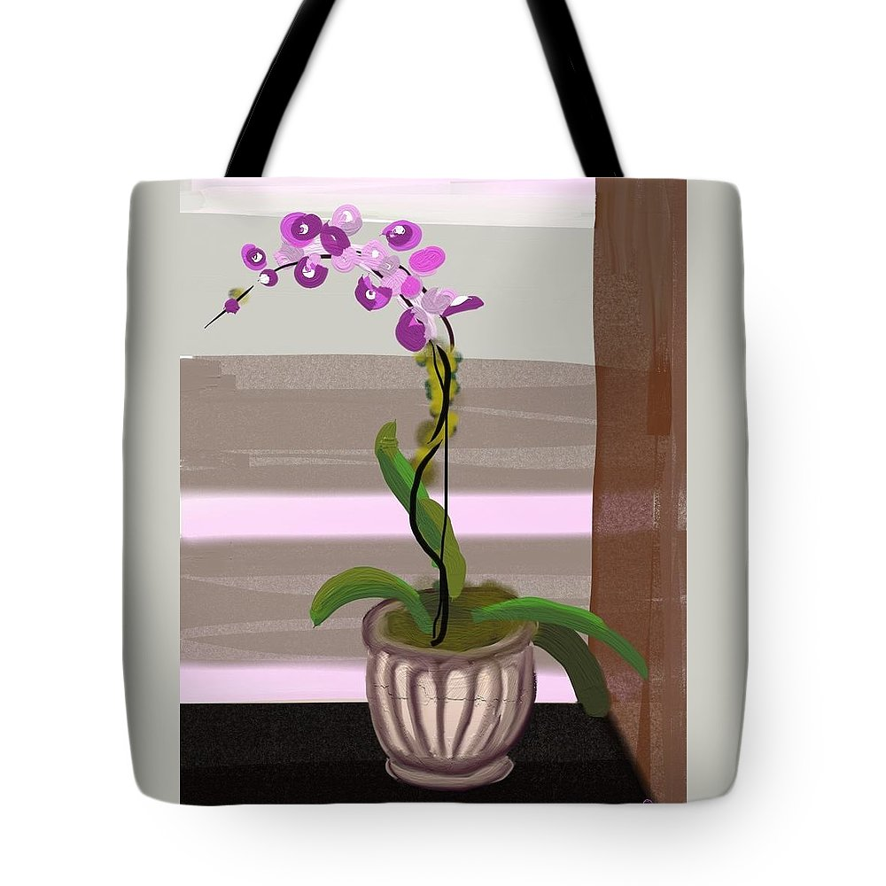 Orchid Tote Bag featuring the digital art Orchid by Marvin Campbell