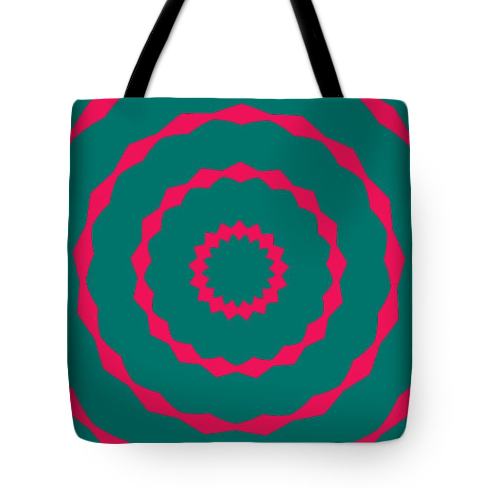 Round Tote Bag featuring the painting Ornament Number Five by Alex Caminker