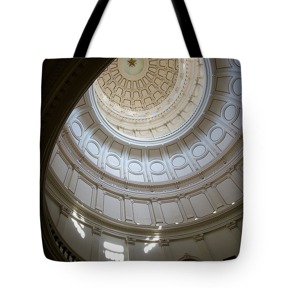 Democracy Tote Bag featuring the photograph Ornate Round Dome Of The Capital by Wpcg