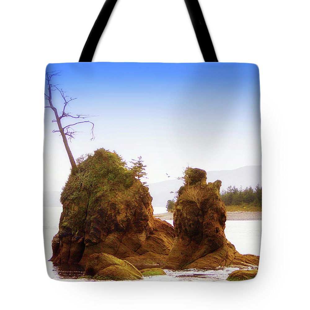 Outlying Tillamook Bay Tote Bag featuring the photograph Outlying Tillamook Bay by Kandy Hurley