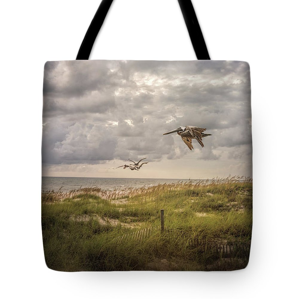 Cape San Blas Tote Bag featuring the photograph Over The Dunes by Jai Johnson
