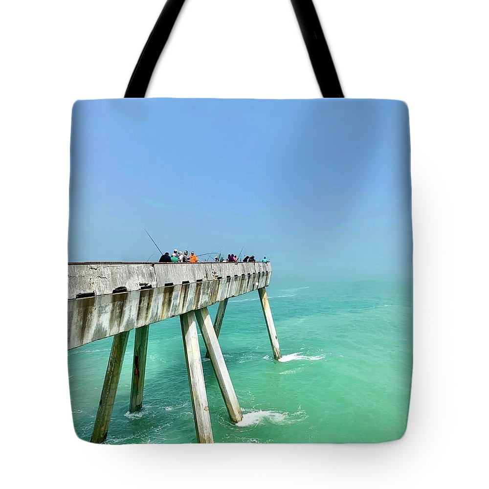 Pier Tote Bag featuring the photograph Pacifica Pier 1 by Julie Gebhardt