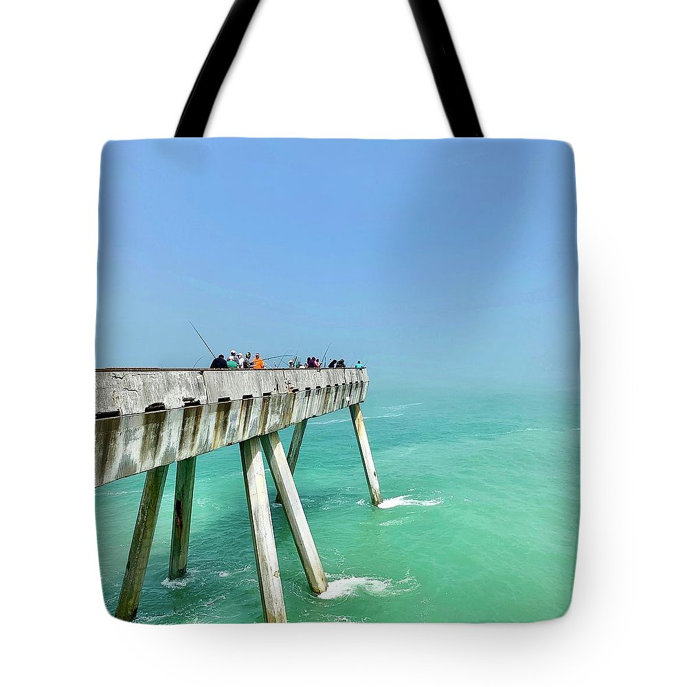 Pier Tote Bag featuring the photograph Pacifica Pier 2 by Julie Gebhardt