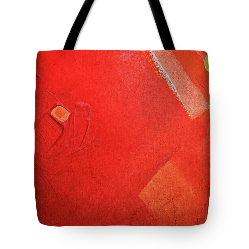 Gouache Tote Bag featuring the digital art Painting On Canvas by Petekarici