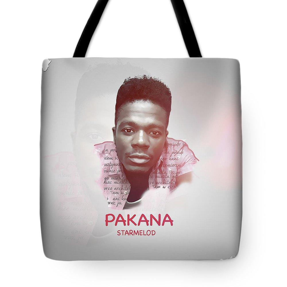 Pakana Artwork Tote Bag featuring the digital art Pakana Artwork by Thomas Gueabley Tierou