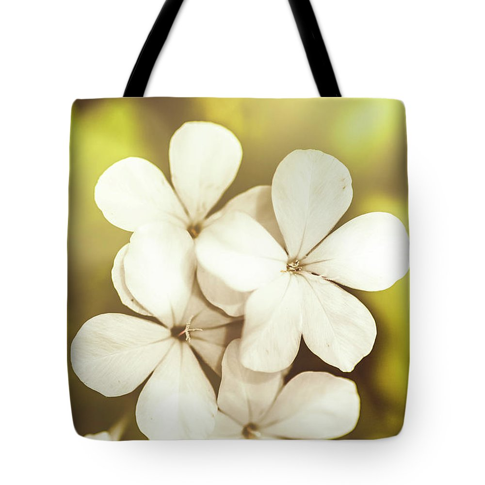 White Tote Bag featuring the photograph Pale Wildflowers by Jorgo Photography - Wall Art Gallery