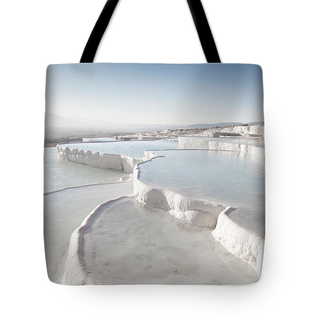 Mineral Tote Bag featuring the photograph Pamukkale by Phooey