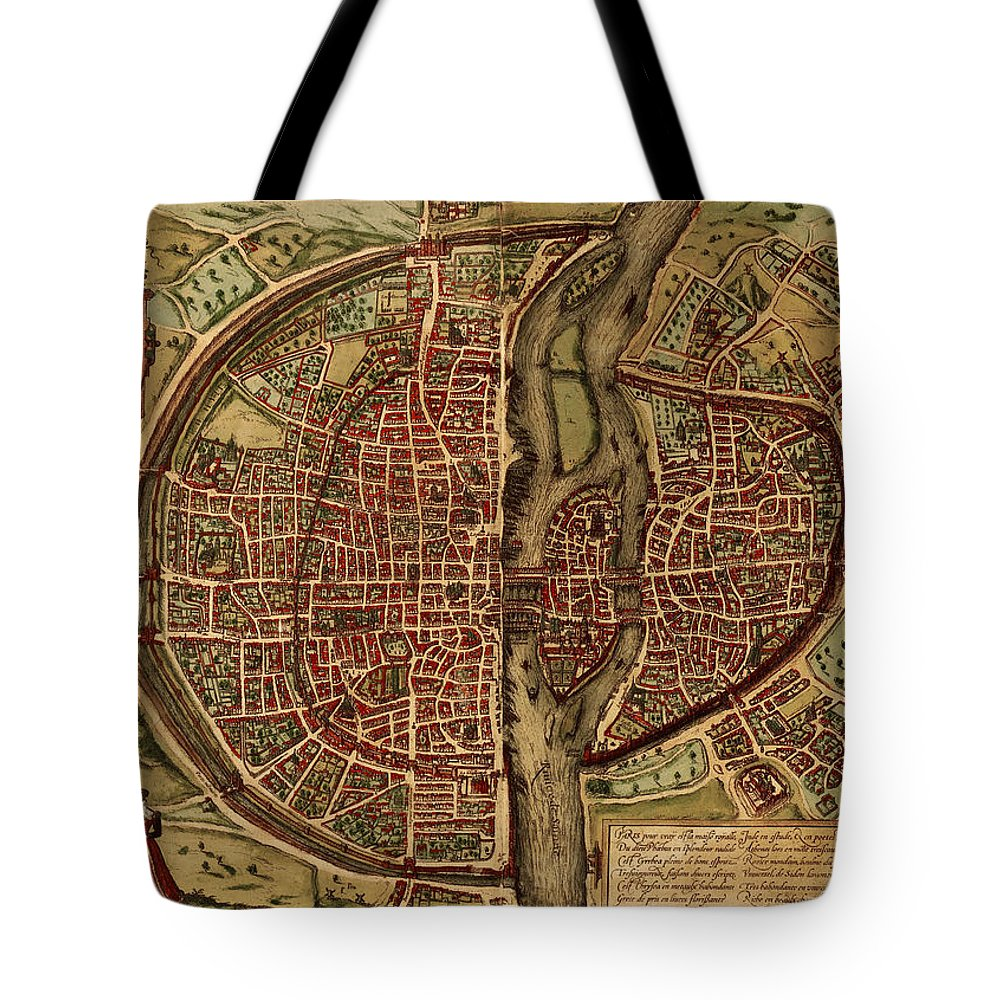 Scenics Tote Bag featuring the digital art Paris Antique View by Nicoolay