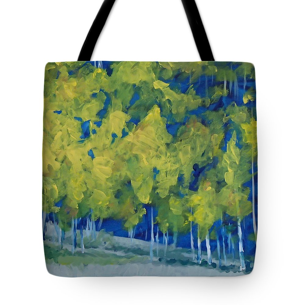 Forest Tote Bag featuring the painting Park City Forest by Philip Fleischer