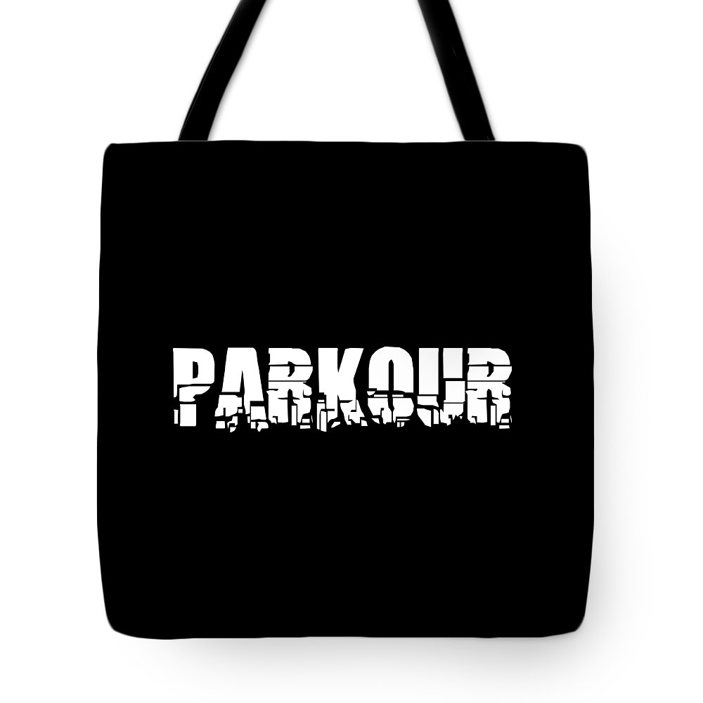 Parkour Tote Bag featuring the digital art Parkour Shirt Parkour Breakdown Free Running Gift Tee by Haselshirt