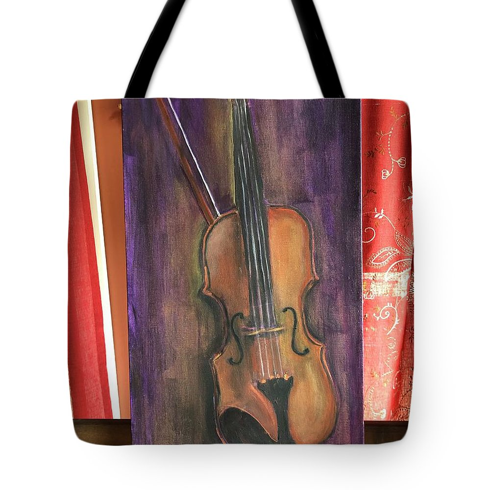 Tote Bag featuring the painting Part 1 by Ron Tango Jr