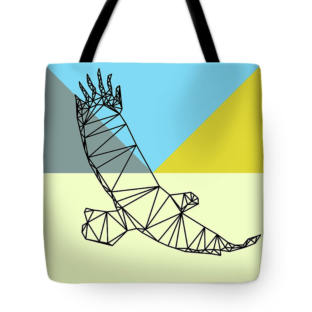 Eagle Tote Bag featuring the digital art Party Eagle by Naxart Studio