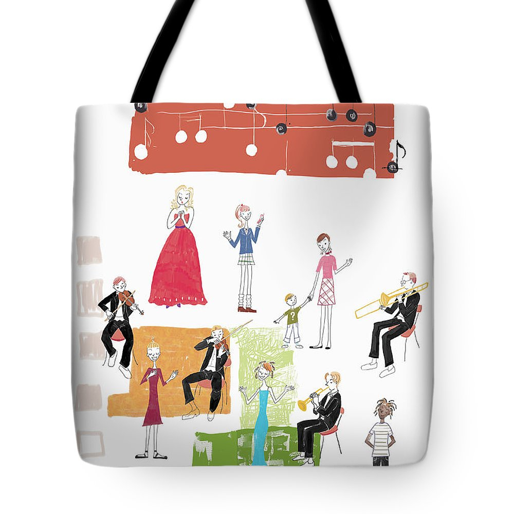 People Tote Bag featuring the digital art Party Image by Daj