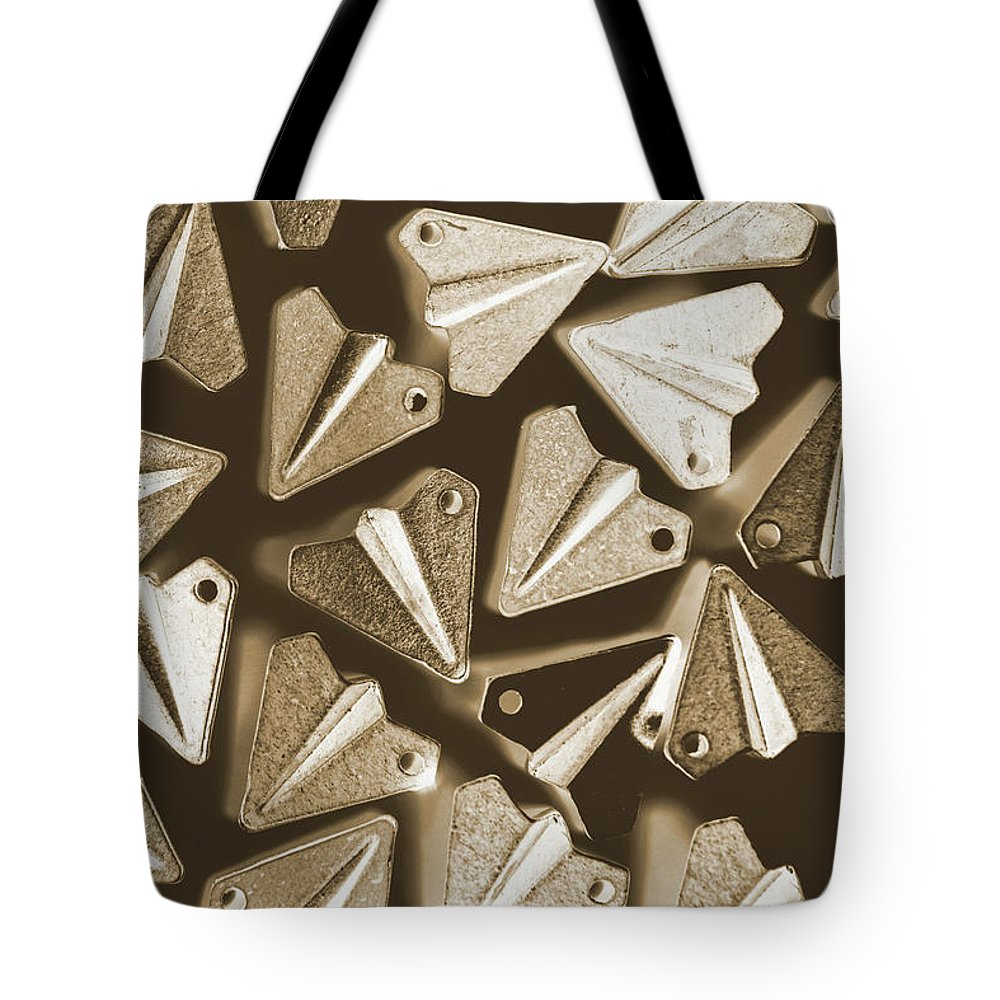 Airplane Tote Bag featuring the photograph Patterned In Aviation by Jorgo Photography - Wall Art Gallery