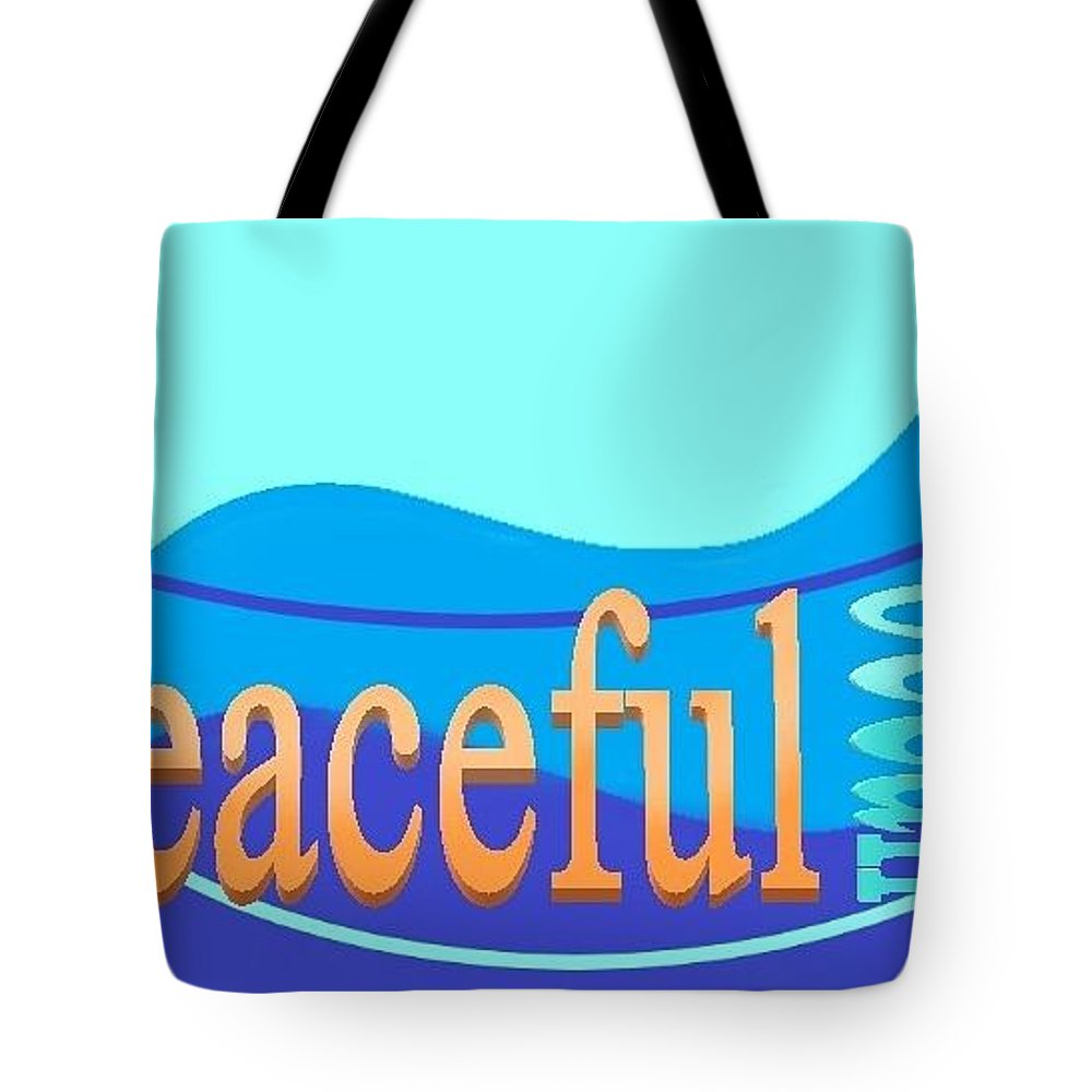 Tote Bag featuring the digital art Peaceful Ocean by Andrew Johnson