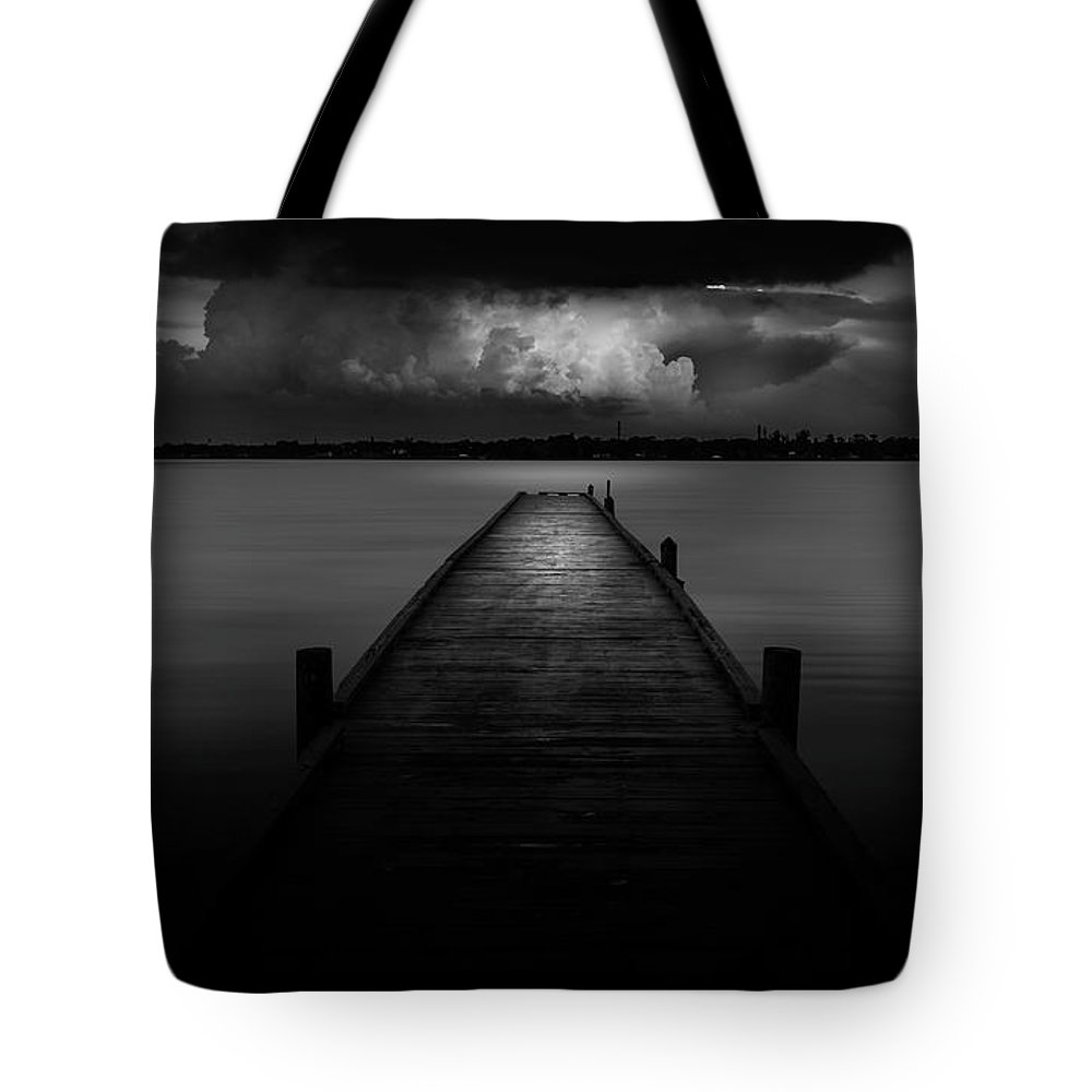 Pier Tote Bag featuring the photograph Peaceful Retreat by Marvin Spates