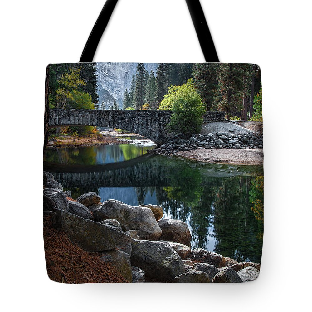 Yosemite Tote Bag featuring the photograph Peaceful Yosemite by Larry Marshall