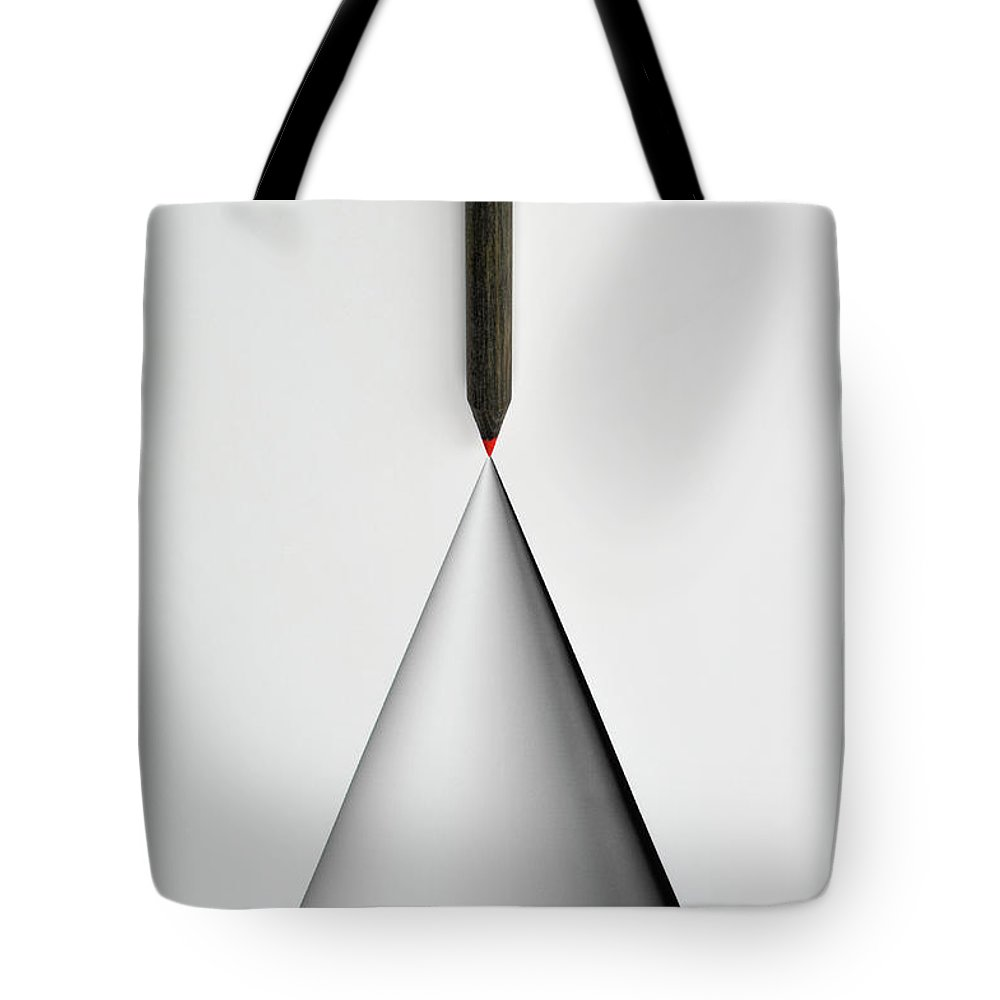 Art Tote Bag featuring the photograph Pencil And The Structure Of The Cone by Yagi Studio